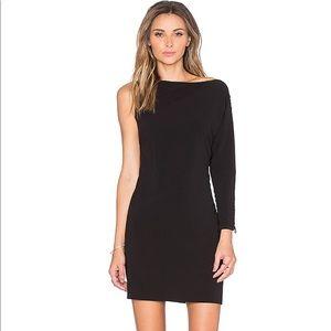 Halston Heritage one shoulder embellished dress